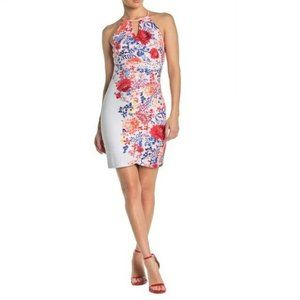 Guess 8 Coral Floral Halter Dress NWT BV73